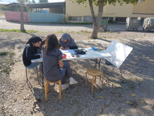 Women's poetry club at Oinofyta