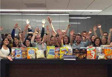 Our team loves cereal