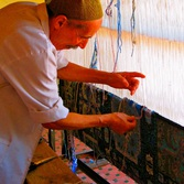 Man weaving