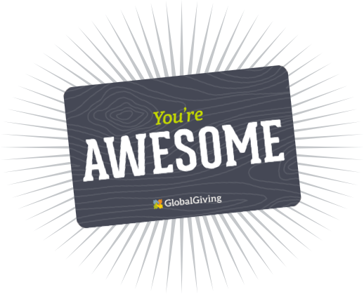 Image of a gift card with the text 'You're Awesome'