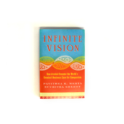 "Give $100 to help eliminate needless blindness and receive the book, ""Infinite Vision"""