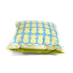 Help a domestic violence victim escape from danger to safety and receive a hand blocked pillow cover from India