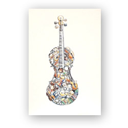 """Provide music education in disadvantaged schools and receive special """"Symphonic Celebration"""" greeting cards (Pack of 8)!"""