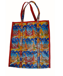 keeps 89 families safe during floods and gets you this fun, eco shopping bag!