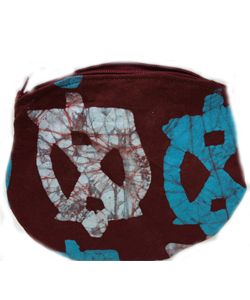 donation gets you a WomensTrust logo batik change purse