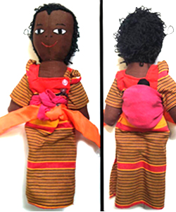 Provide a family with malaria nets and receive a handmade Ugandan mother doll in traditional dress