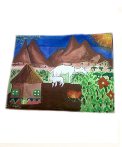 Send three South African kids to school and receive a painting!