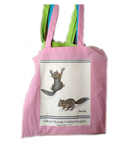 Provides food & medicine for an injured baby wild animal and receive a beautiful spring bag with our thanks!