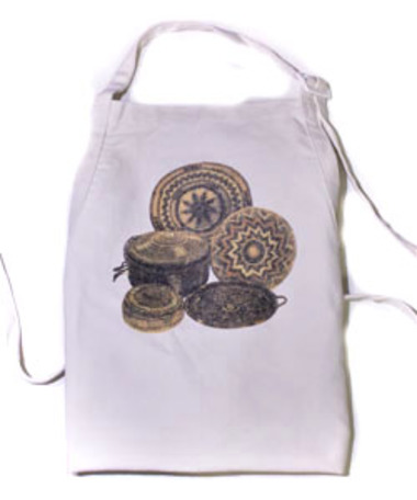 Help provide healthy food for Palestinian school children and receive a screen-printed cotton apron as a free gift