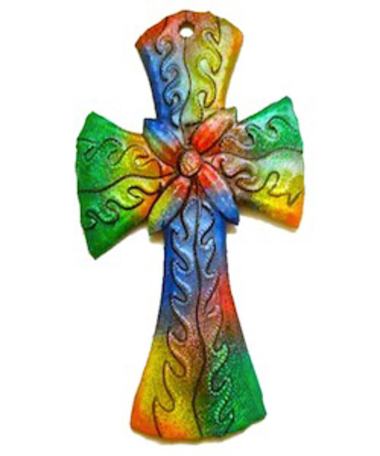 Sponsor Stanley for $100 to earn a colorful Haitian metalwork Cross!