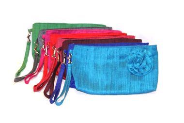 Beautiful Silk Clutch/Wristlet Sends Impoverished Child to School!
