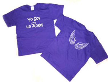 A $50 donation get you an angel tshirt.