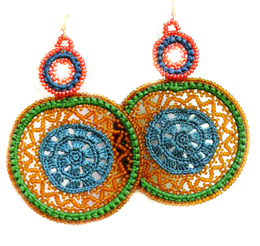 Provide school meals for children in Guatemala gets you hand beaded earrings!