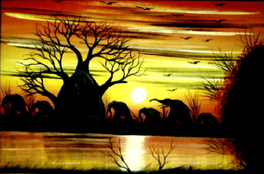 Provide education to poor kids in Zimbabwe and receive a beautiful hand painted picture from Zimbabwe