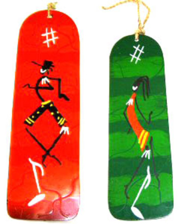 Purchase TEXTBOOKS and SCHOOL SUPPLIES for a child in Kenya and receive TWO hand painted tin bookmarks made in Kenya.