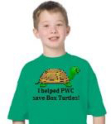 A $75 donation gets you a box turtle t-shirt!