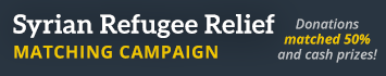 Syrian Refugee Relief Matching Campaign 2016