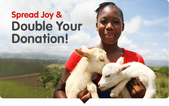 Spread Joy and Double Your Donation