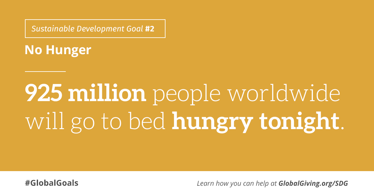 #GlobalGoals - No Hunger