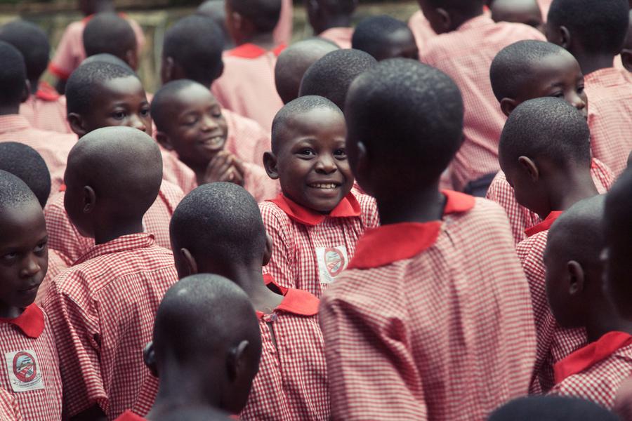 An Arlington Academy of Hope student smiles.