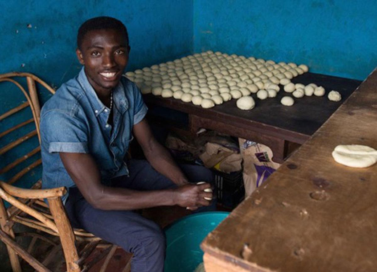 Bizimana is a refugee from Rwanda.