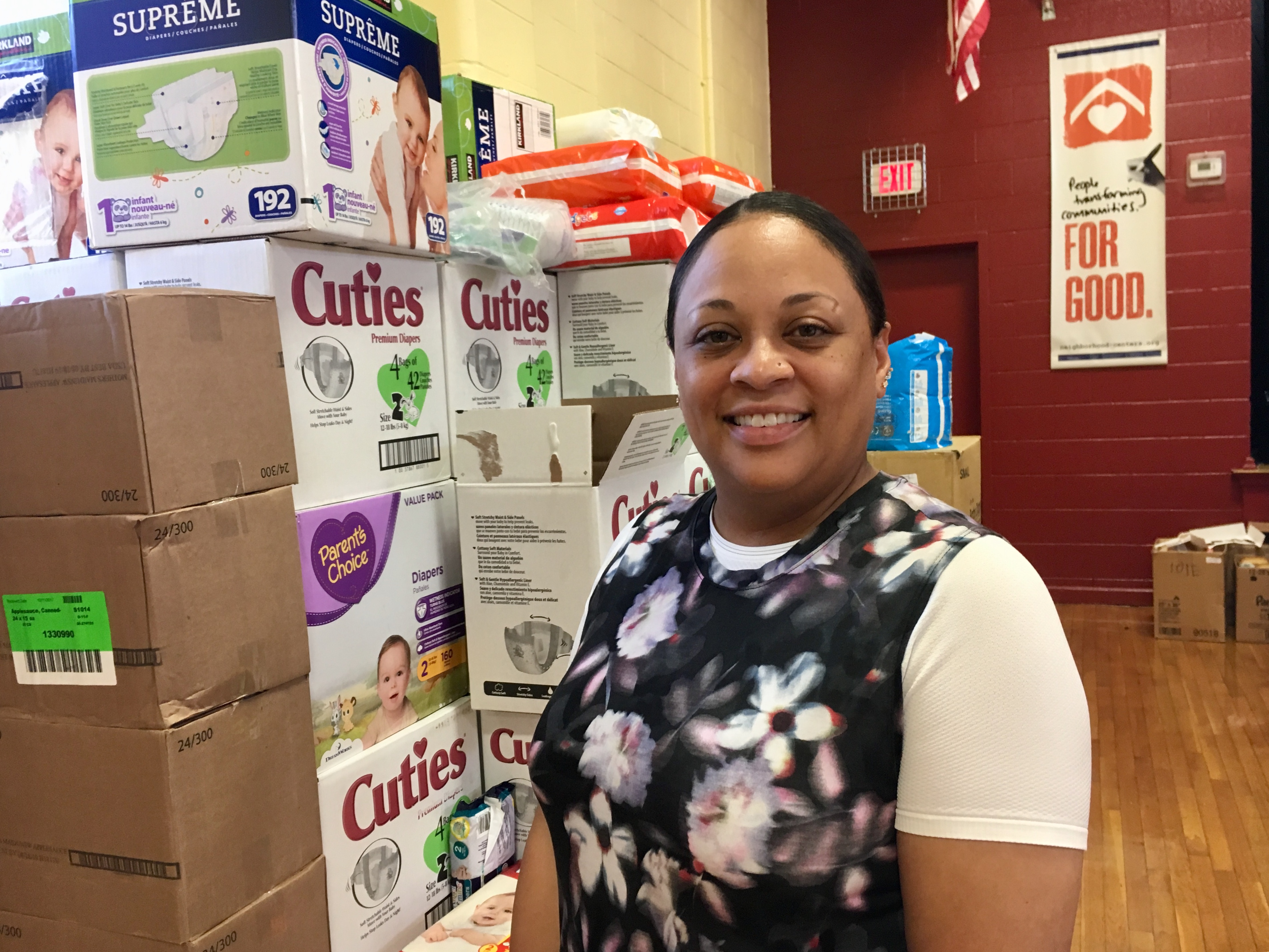 Cassie A. Jones works for BakerRipley, a Houston-based nonprofit that is running an emergency supply center for families displaced by Harvey.