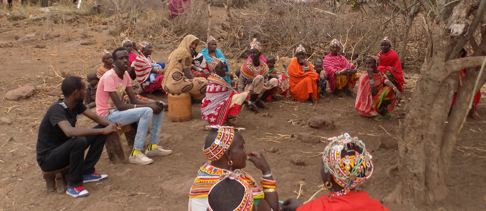 Women and men meet to discuss option to drought in Marsabit.