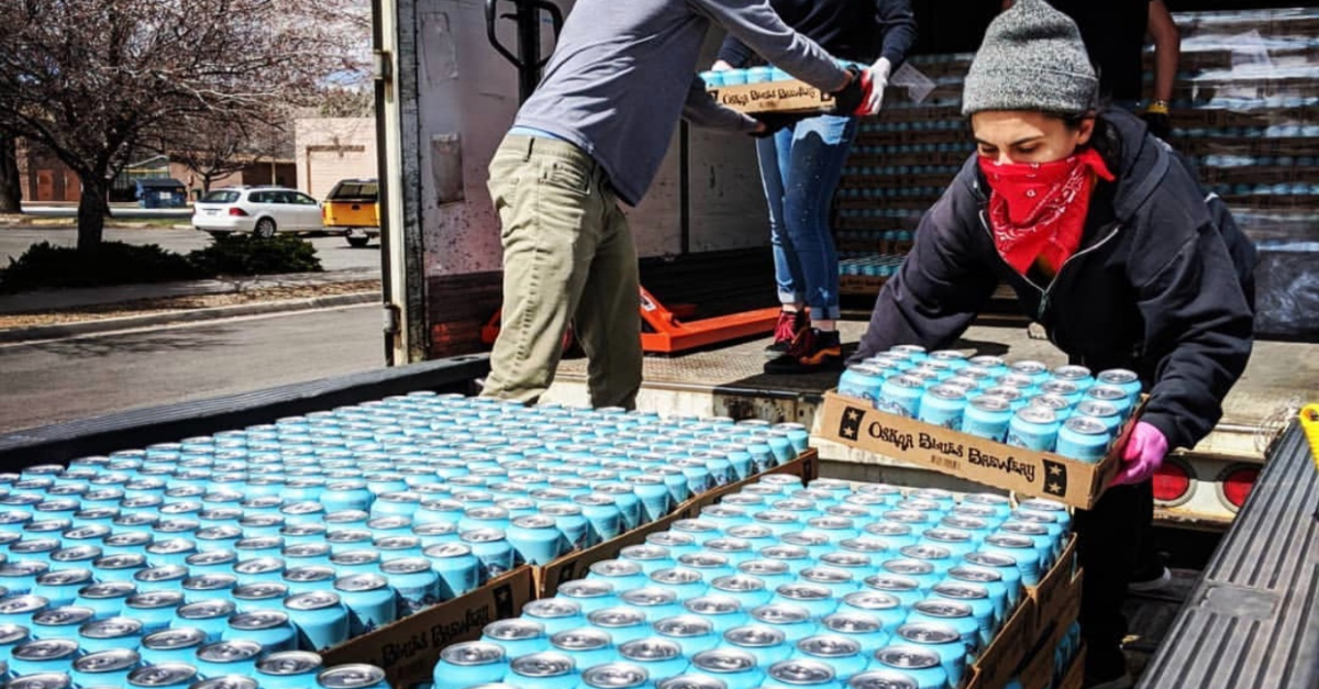 Canned water for the Navajo Nation. Innovative solutions COVID-19