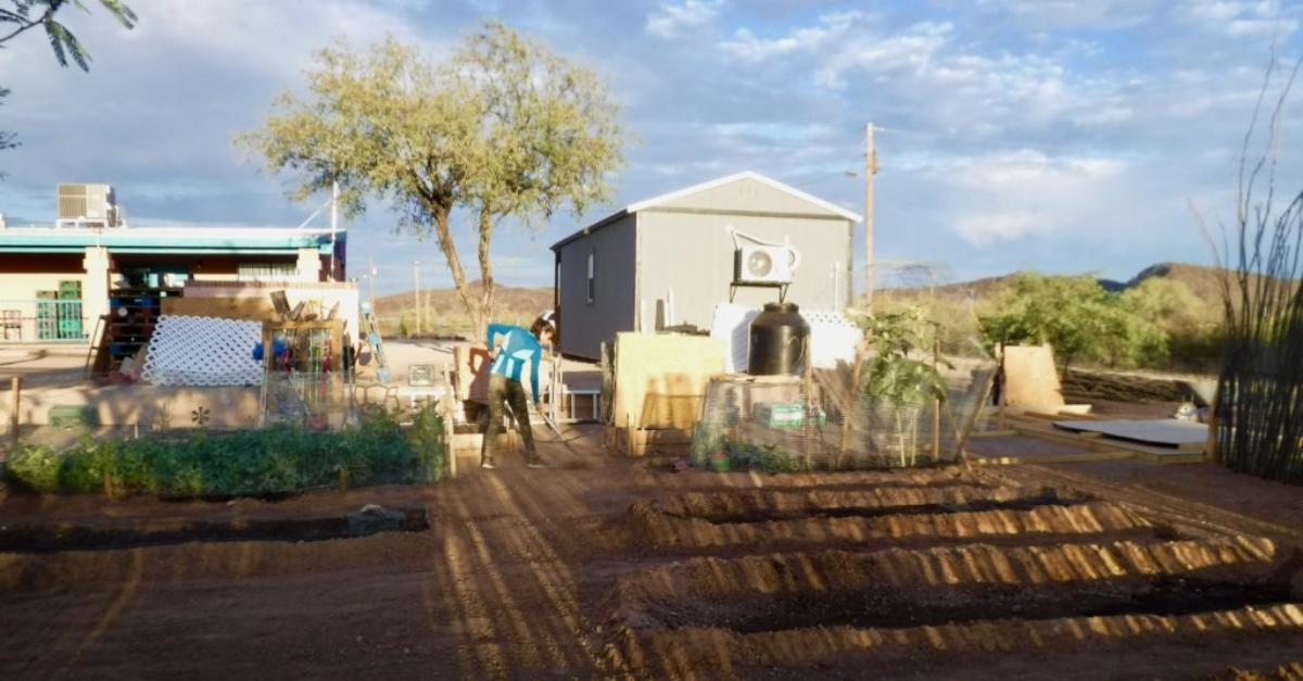 Community garden in GuVo District of the Tohono O'odham Nation in Arizona