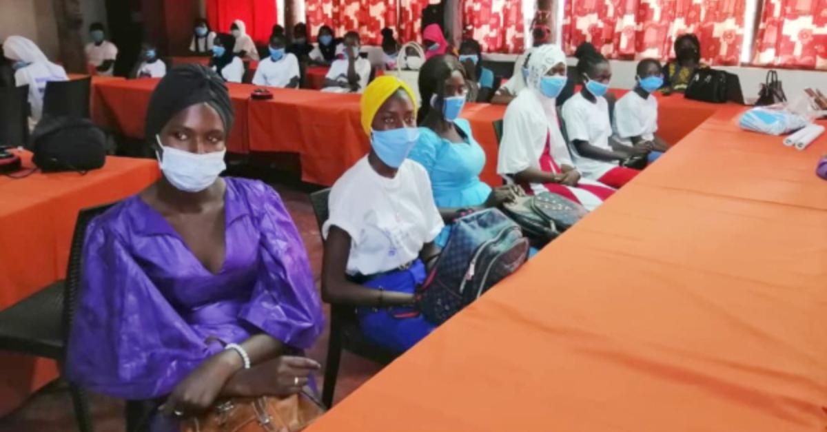 Attending a gender-based-violence workshop. Photo: Women's Global Education Project