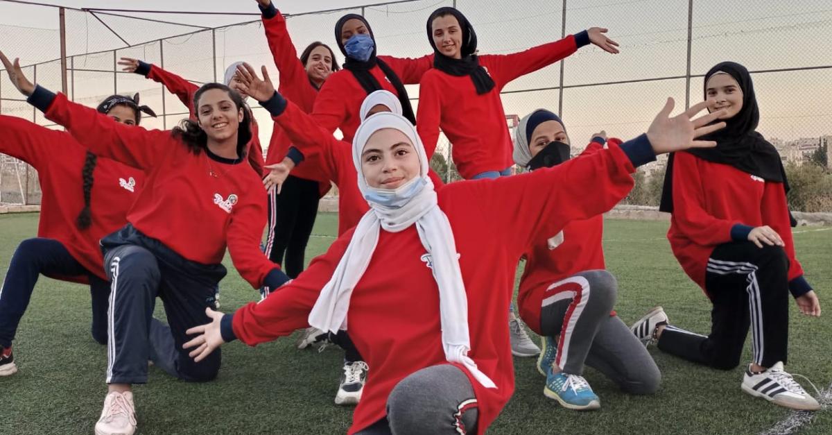 Girls enjoying sport in Jordan.