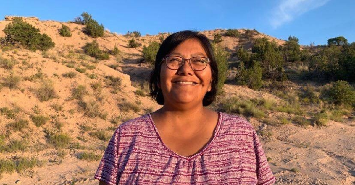 Cheryl Pailzote, a White Mountain Apache tribe member, water resources expert, and farmer