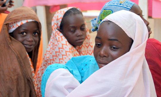 Young Girls at an APAD Community Meeting