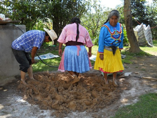Preparing the ground to build a stove