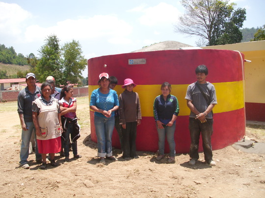 Cistern built by the Nicolas Romero Community