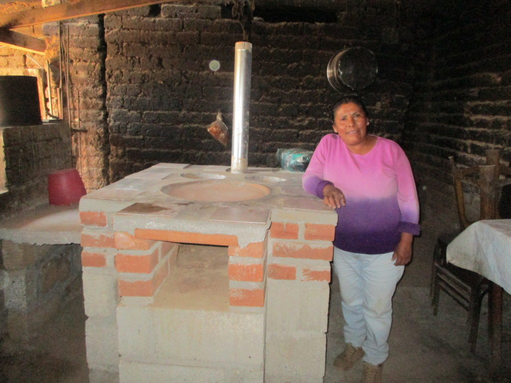 Woman from Zirahauato IC with fuel-efficient stove