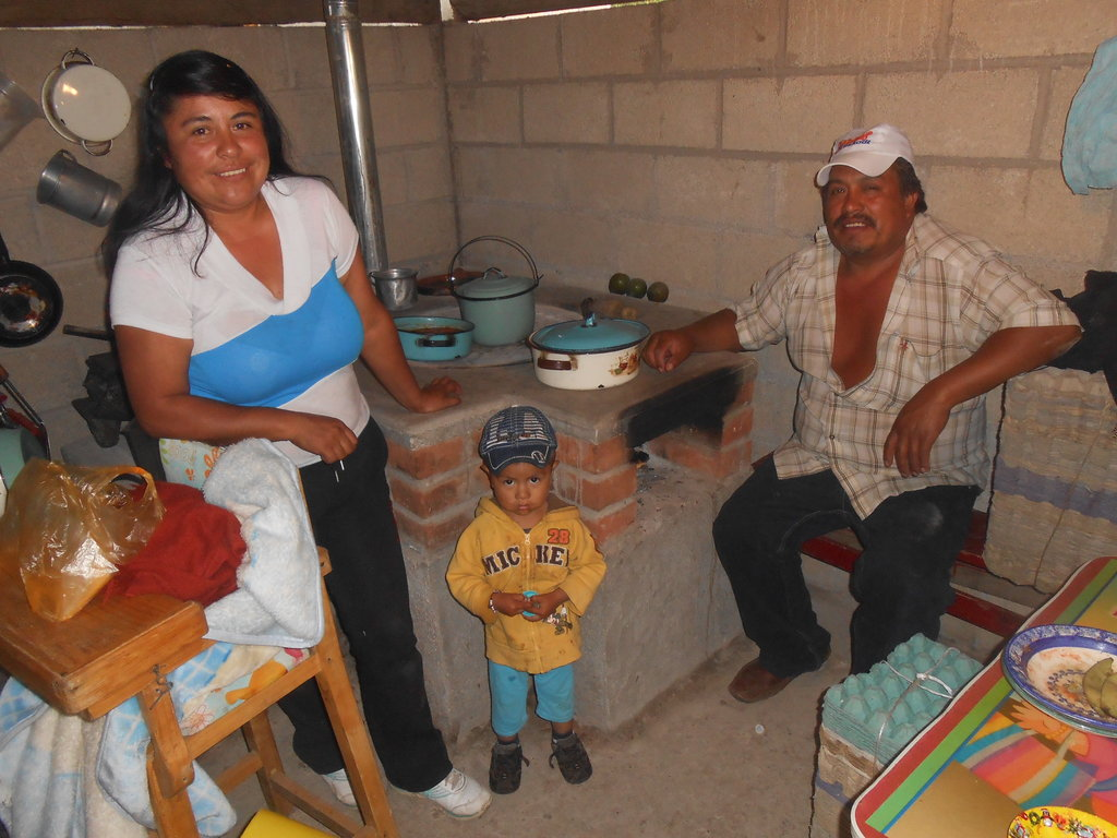 A family with their new stove