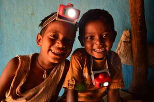 2 Boys in Odisha, India with their NURUlights