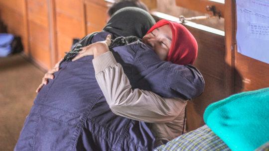 Indonesia Bhinneka camp hug