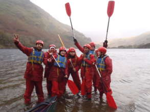 Team bonding on a previous international programme