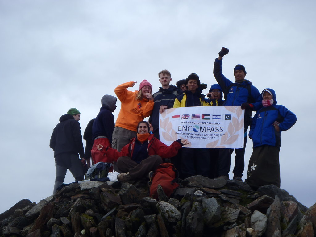 We made it! On the top of Snowdon
