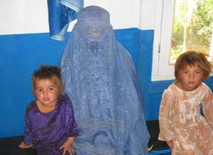Afghan Woman and Her Children at MSIA Clinic