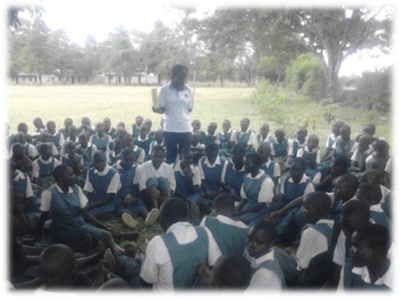 Life skills class for girls in Got Oyenga
