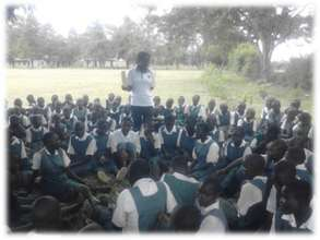 Life skills class for girls in Got Oyenga