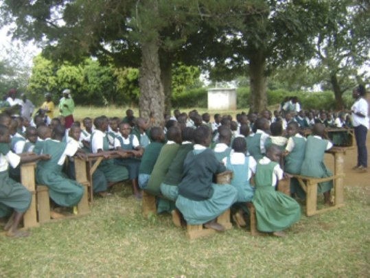 Girls attending a life skills session