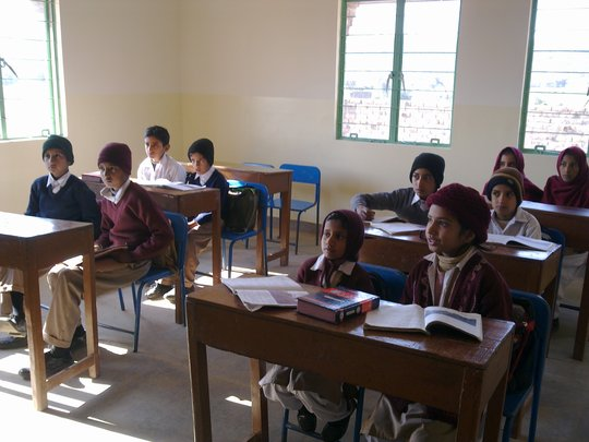 Guff Students in their new classroom