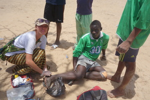 Treating a talibe youth injured in a soccer match