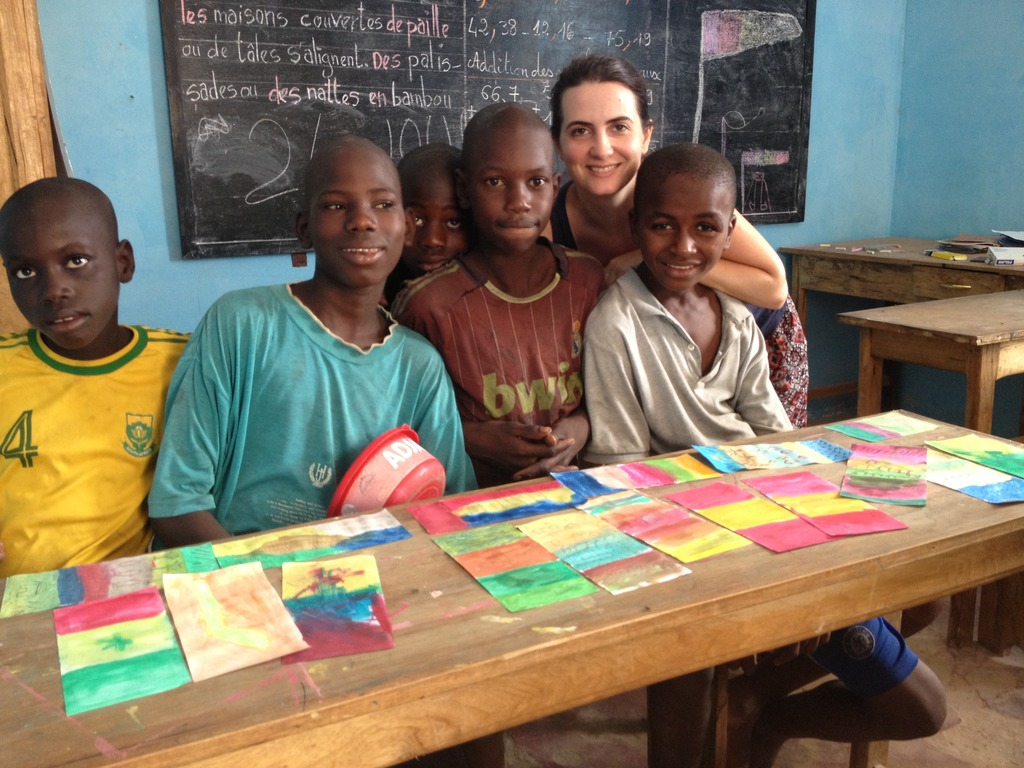 Francesca with her art students