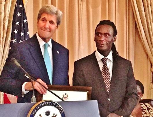 "Secretary John Kerry recognizes Issa as a ""hero"""
