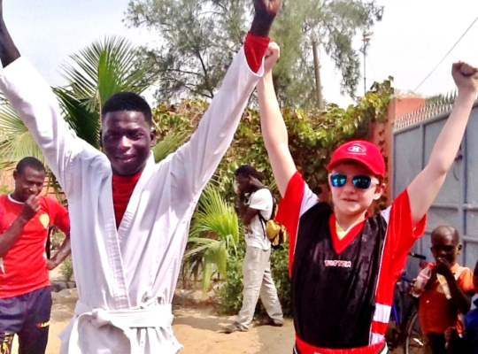 Souleymane celebrates love of karate with Robbie